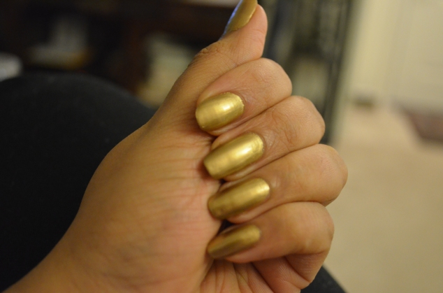 Mahima -Amber Gold Chrome With Topcoat