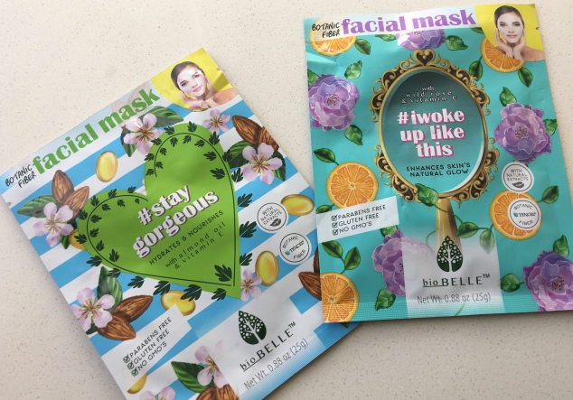 Biobelle #StayGorgeous and #Iwokeuplikethis Sheet Masks
