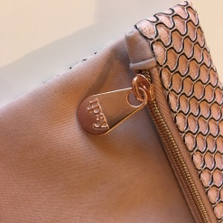 Rose Gold Zipper detail